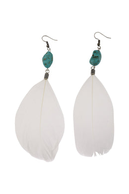 Bead & Feather Earrings