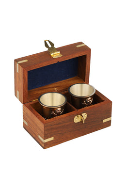 Blackbeard Shot Glass Gift Box