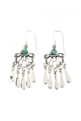 Swirl Petal Droplet Earrings