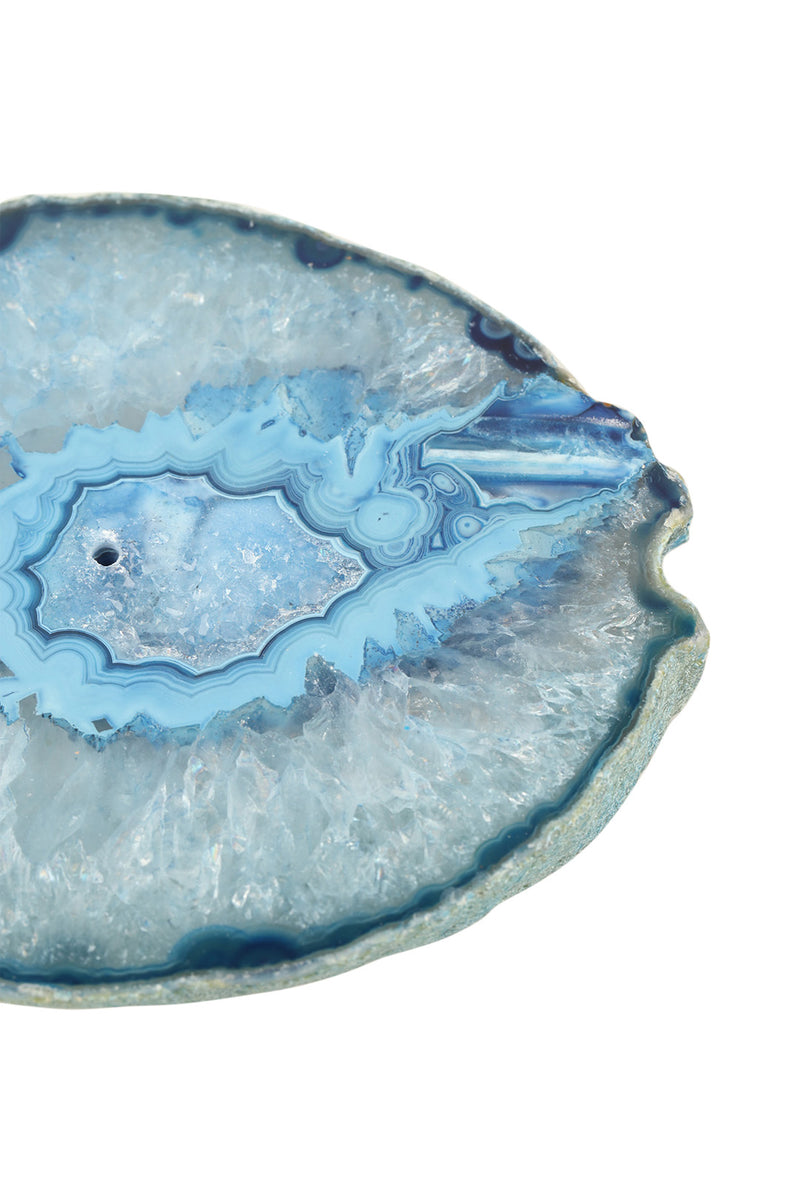 Blue Agate Gemstone Incense Holder