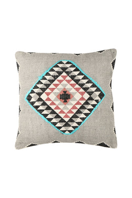 Aztec Diamond Pattern Grey Cushion