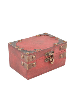 Painted Red Wooden Box