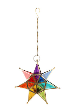 Seven-Pointed Glass Star Lantern