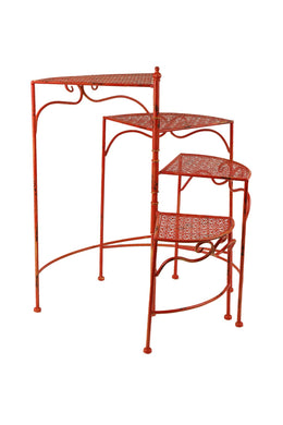 Outdoor Iron Four Tier Plant Stand