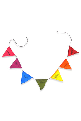Peace Affirmation Rainbow Bunting