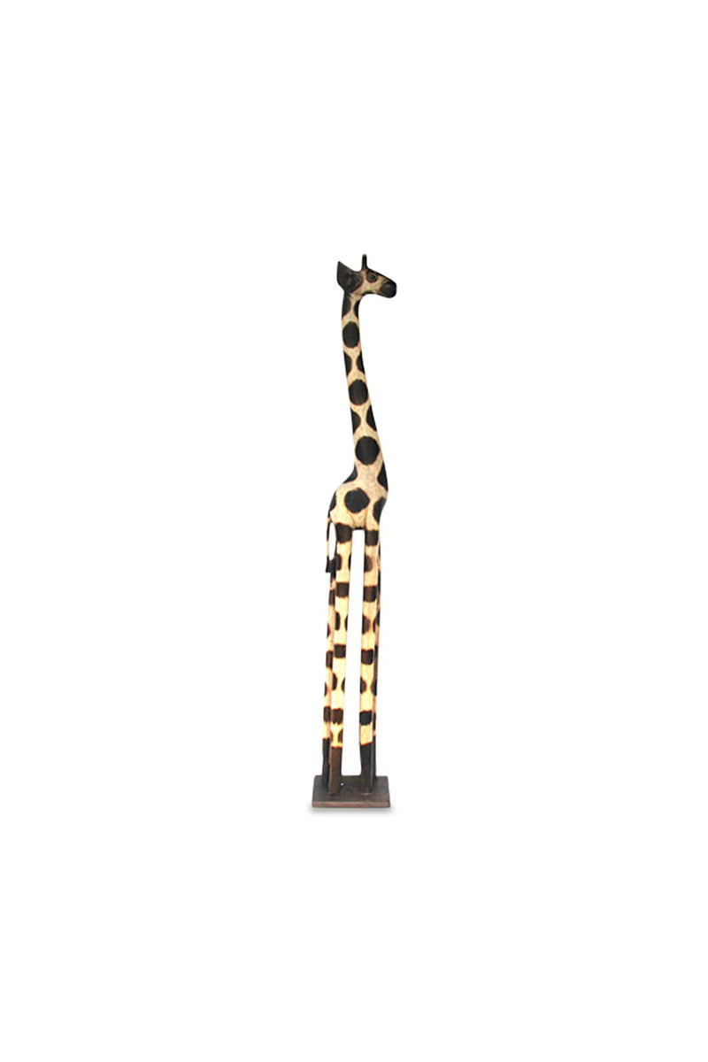 Carved Timber Giraffe Statue