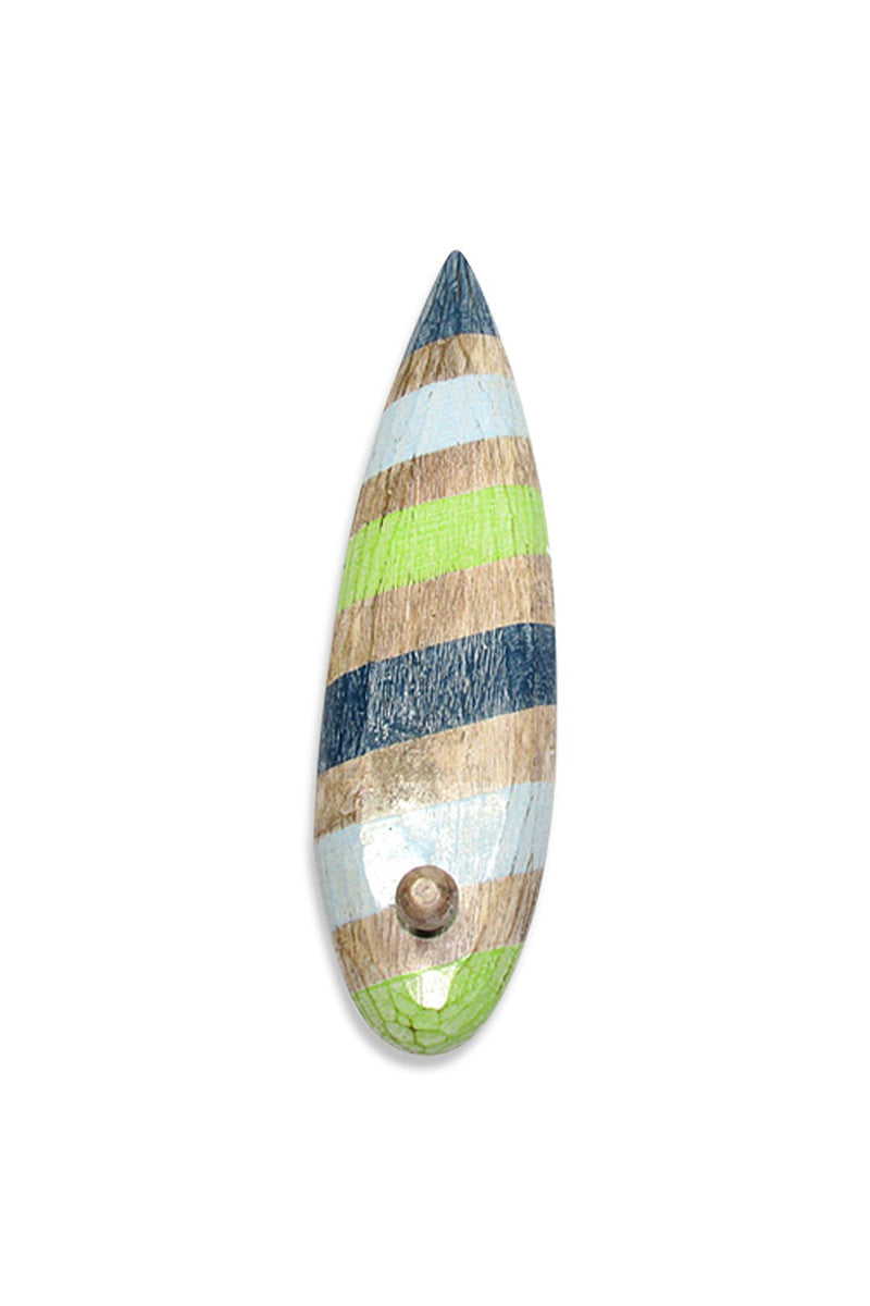 Candy Striped Surfboard with Hook