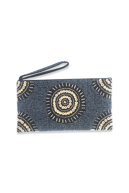 Black Bead Circle Coin Purse