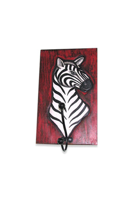 Red Zebra Wall Hanger