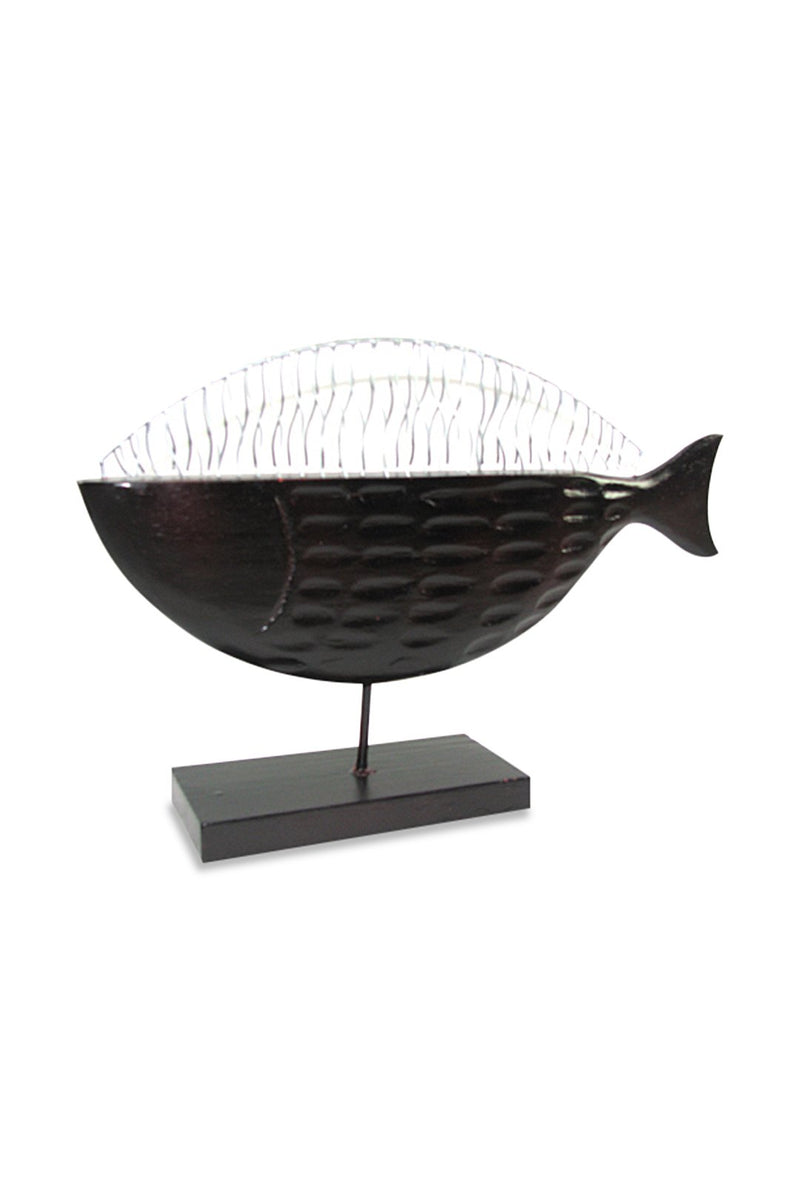 Iron Wire Fish Statue