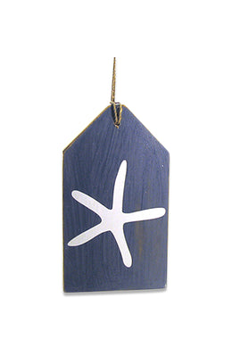 Painted Starfish Timber Door Hanger