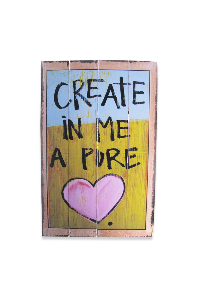 Create a Pure Heart Sign