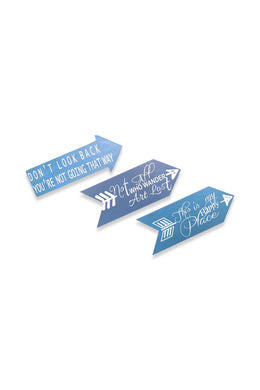 Arrow Wall Plaque Set