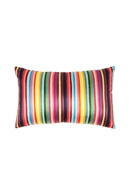 Embroidered Rainbow Stripe Cushion