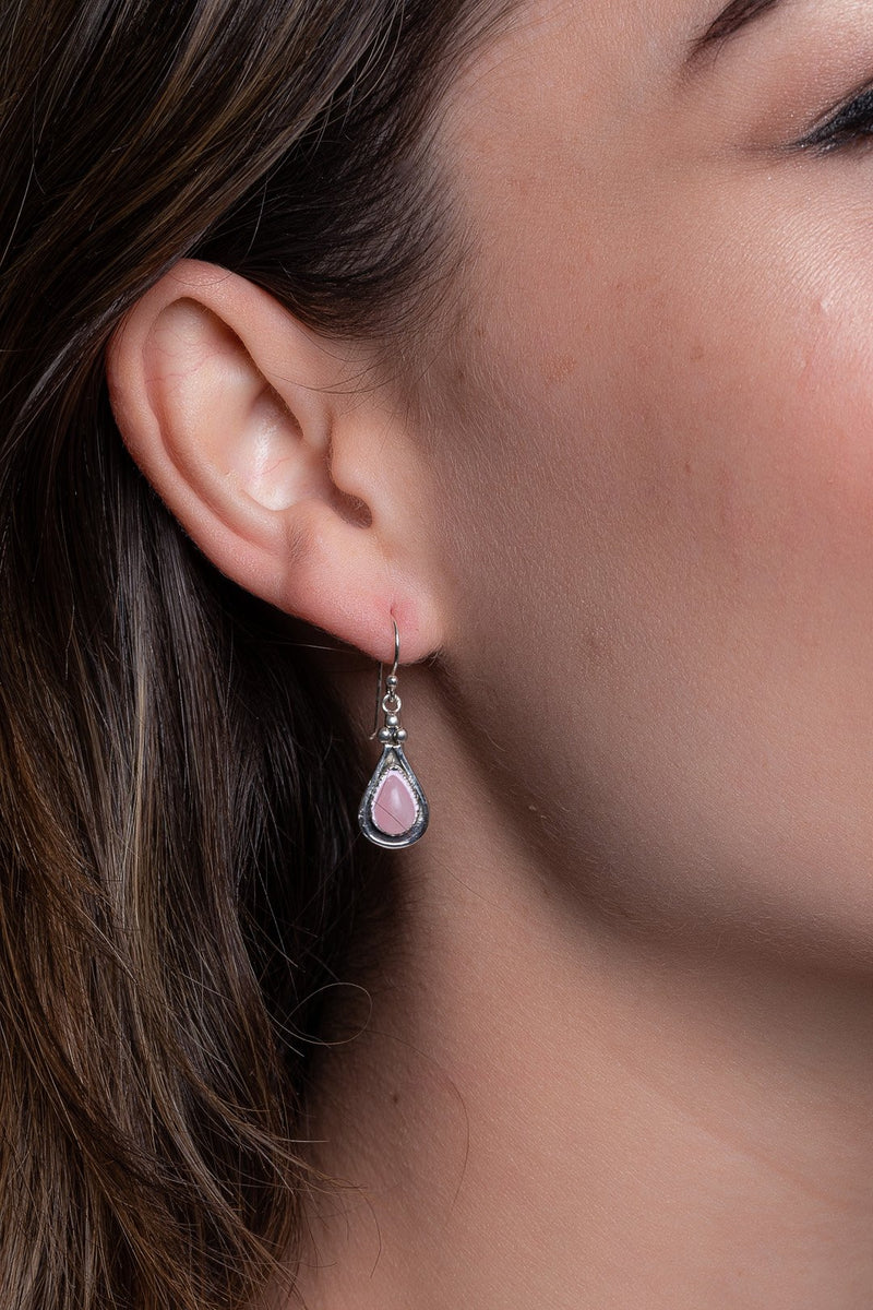 Droplet Detailed Silver Earrings