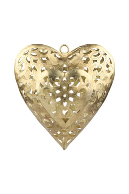 Antique Cutwork Heart Candle Holder