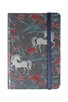 Foil Print Hard Cover Notebook 9.5x14cm