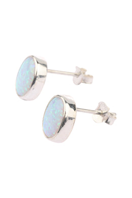 Opalite Stud Silver Earrings