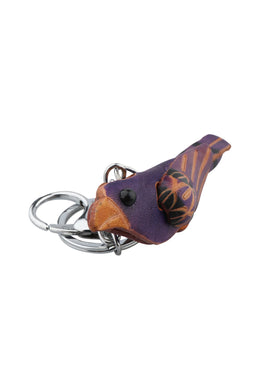 Leather Bird Keyring