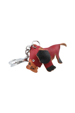 Leather Dog Keyring