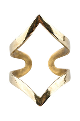 Double Point Brass Ring