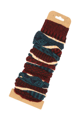 Colour Block Leg Warmers