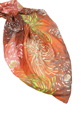 Assorted Print Large Silk Scarf