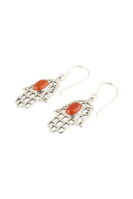 Earrings Hamsa Oval