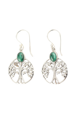 Earrings Tree Of Life Disc