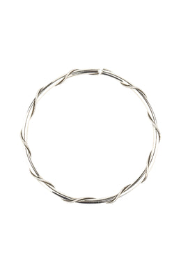 Fine Wrapped Silver Bangle Bracelet