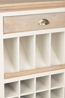 White 30 Wine Bottle Bar Cabinet