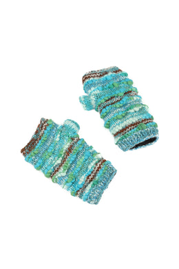 Textured Weave Fingerless Gloves