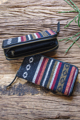 Zip Up Fabric Wallet