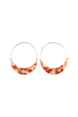 Acrylic Crescent Earrings