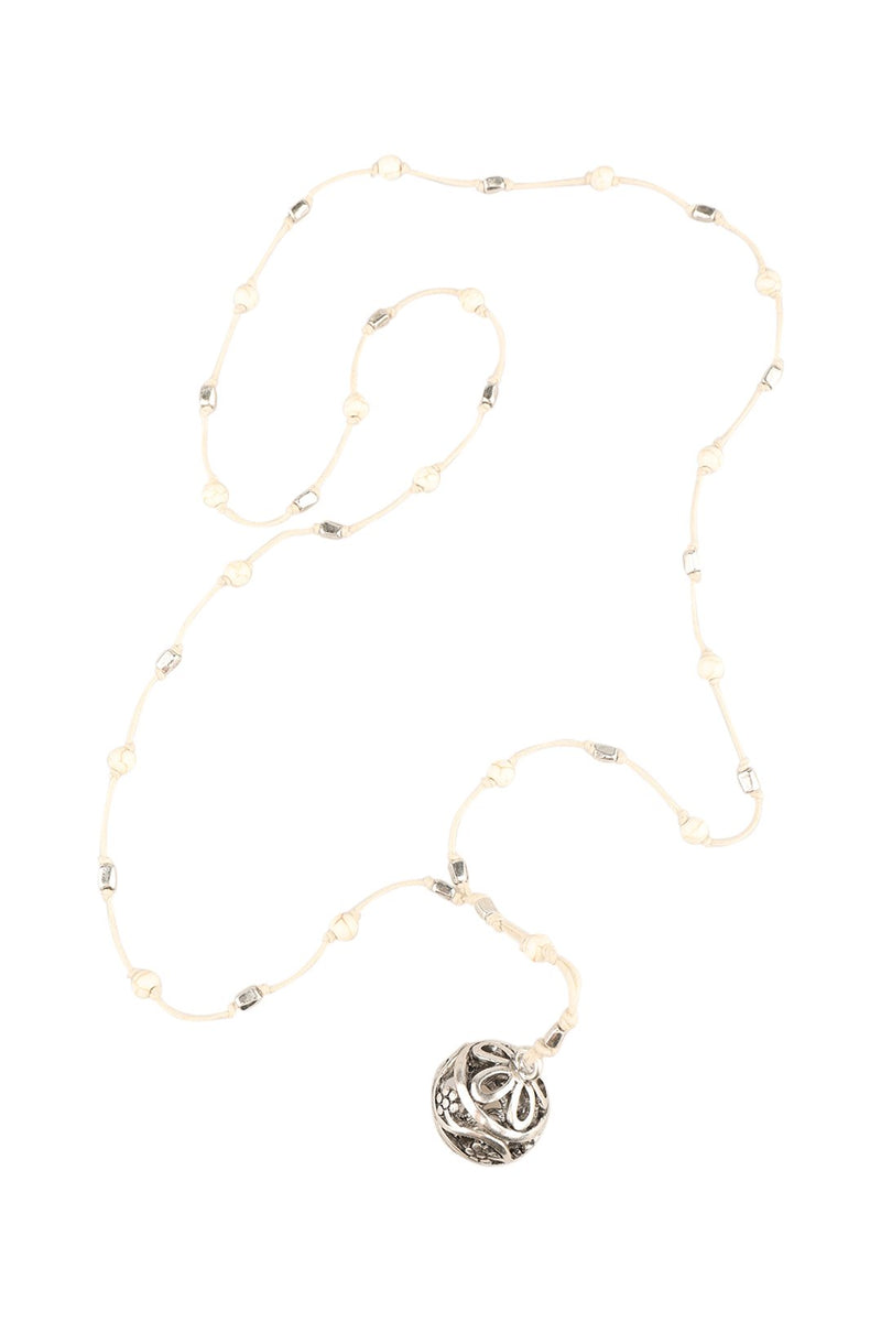 Bead Lariat Cord Necklace