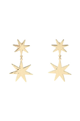 Pebbled Star Earrings