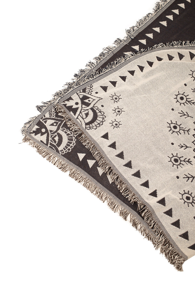 THROW JACQUARD COTTON