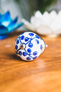 Blue Seed Ceramic Door Knob