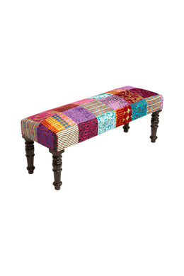 Rayon Velvet Patch Bench