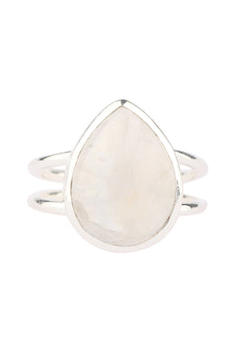 Assorted Simple Silver Gemstone Ring