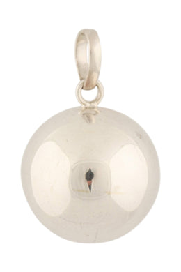 Clean Silver 17mm Harmony Ball Pendant