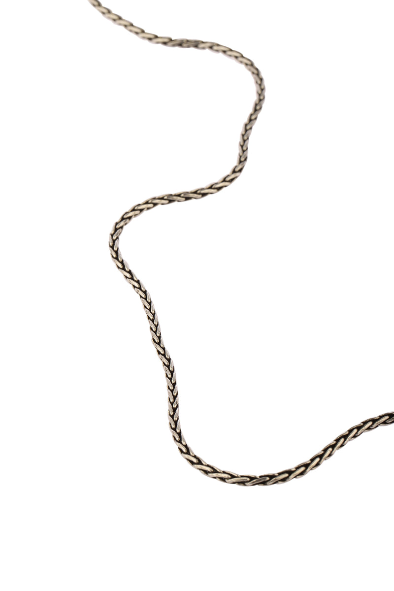 Oxidised Silver Rope Chain Necklace - 18""