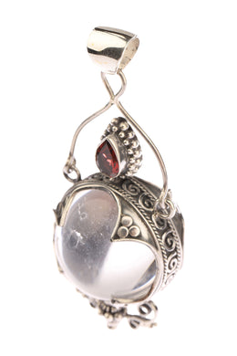 Statement Mystic Ball Quartz with Assorted Stones Pendant