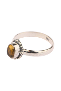 Fine Oval Citrine Silver Ring
