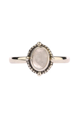 Fine Oval Moonstone Silver Ring