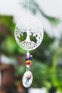 Beaded Sun Catcher - Tree of Life