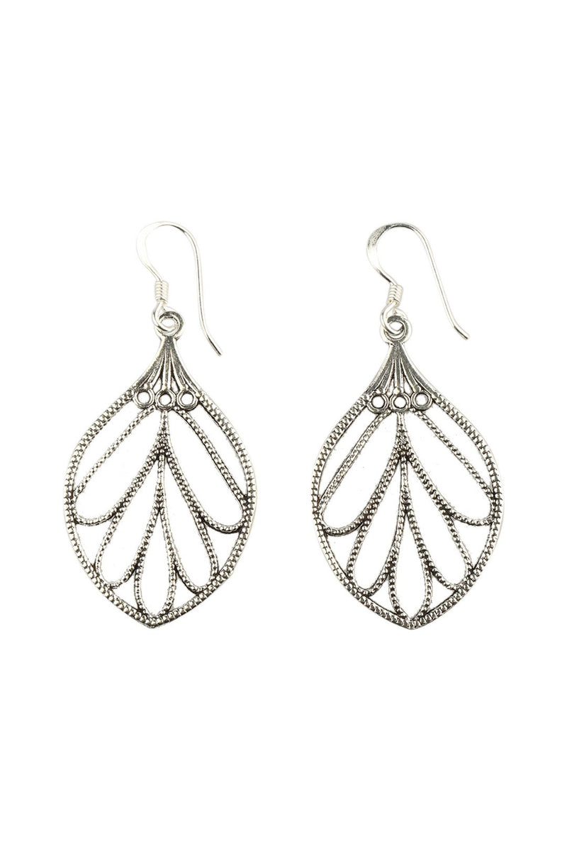 Filigree Leaf Wings Earrings