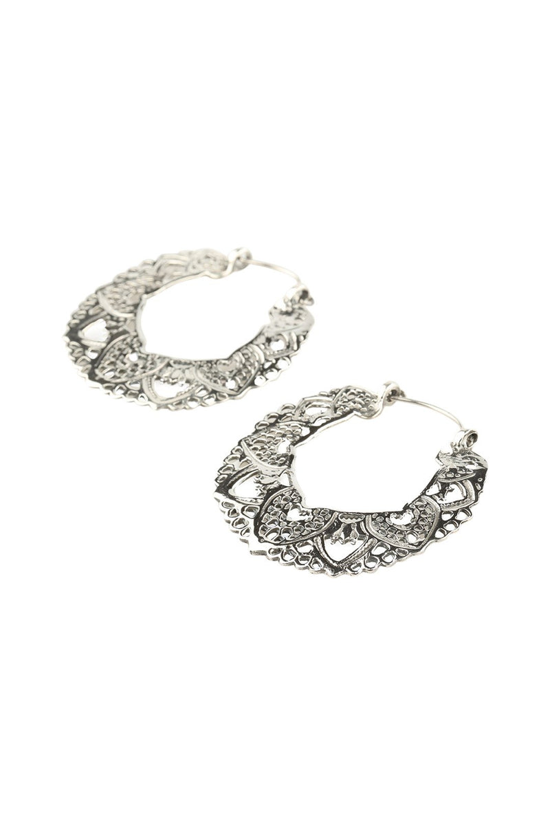 Mandala Ornate Hoop Earrings