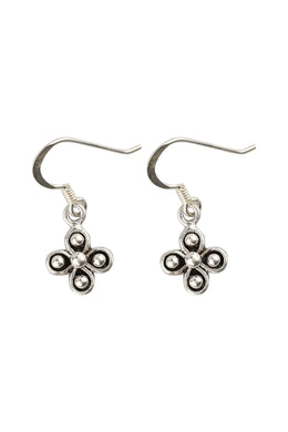 Mini Droplet Dots Silver Earrings