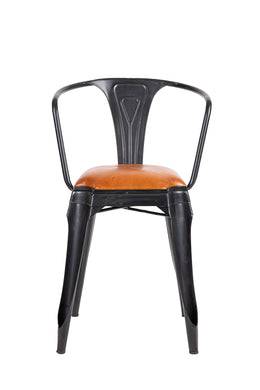 Chair Dining Iron Leather 58X42X81CM